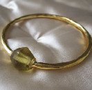 Brass and honey glass bangle