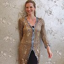 Old gold satin coat with sequins